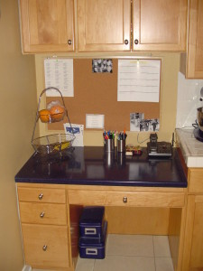 Kitchen desk area